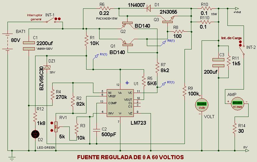 Fuente Regulable 60v 2a Electr 243 Nica Pr 225 Ctica Aplicada