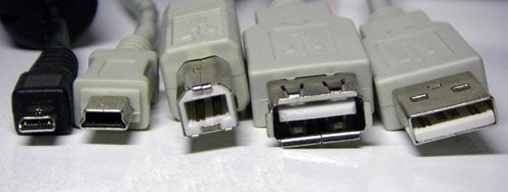 Varios modelos de USB