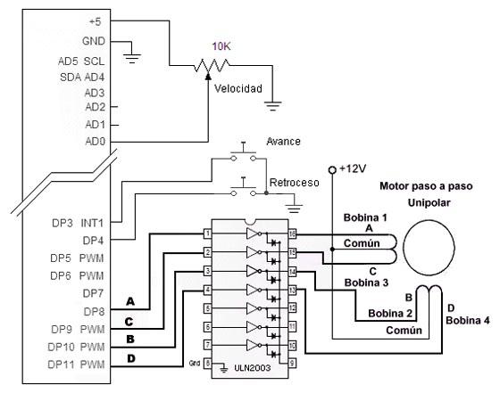 motores pap unipolares  u2013 electr u00f3nica pr u00e1ctica aplicada