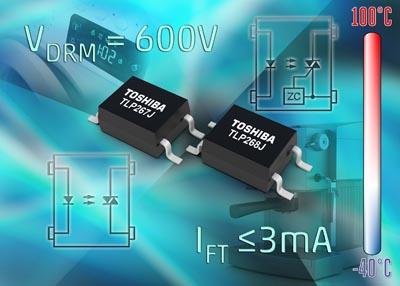 Optoacopladores fototriac de bajo consumo