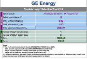 El calculador Tunable Loop Excel de GE Energy se usa para seleccionar los valores óptimos de condensador de salida para sus convertidores PoL.
