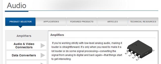 Web de aplicaciones para audio