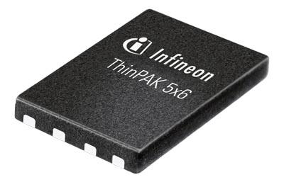 MOSFET CoolMOS SMD de 5 x 6 mm