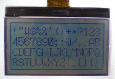 módulo COG LCD gráfico