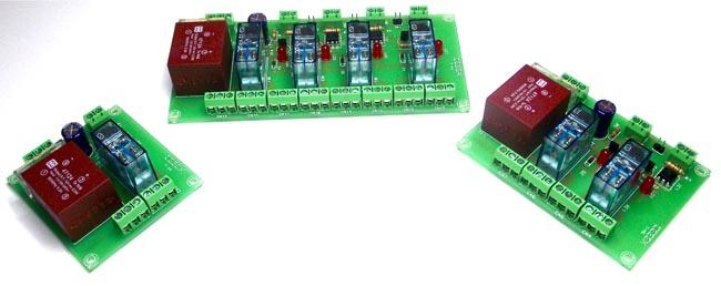 Interfaces con relés de doble contacto