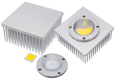 Disipador cuadrado para aplicaciones LED
