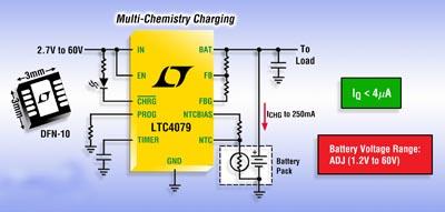 Cargador de batería lineal