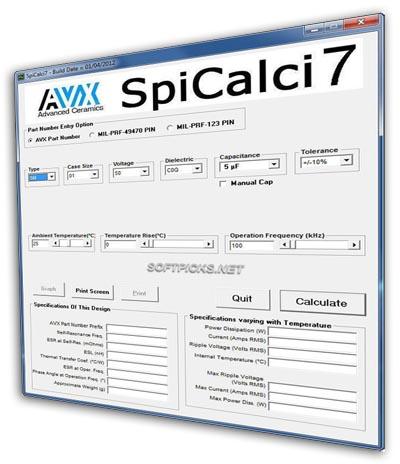 software para simulación de condensadores