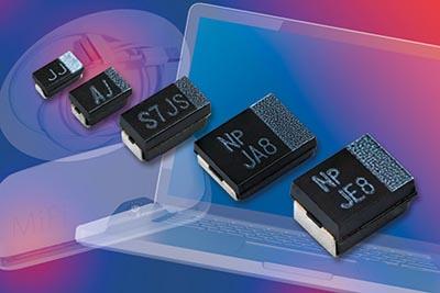 Condensadores chip de polímero de tántalo