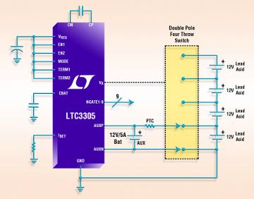 Integrado autónomo para equilibrado de baterías