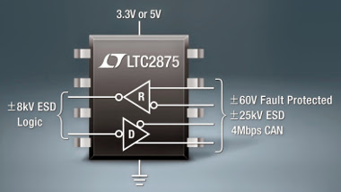 Transceptor CAN de 3,3 V y 5 V