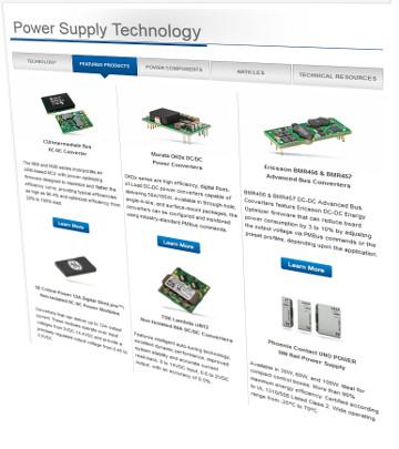Web de tecnología en fuentes de alimentación