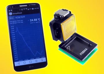 Socket BGA con monitor de temperatura por Bluetooth