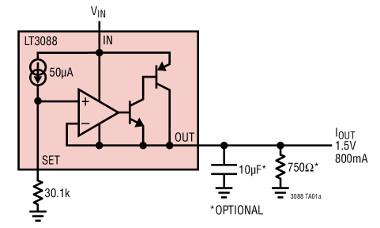 Regulador lineal de 36 V y 800 mA