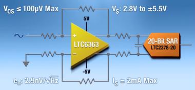 Amplificador diferencial de precisión