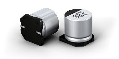 Condensadores electrolíticos SMD con elevada capacitancia
