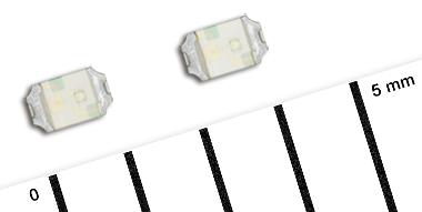 LEDs de colores compactos y de bajo perfil