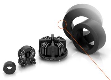 componentes con material nanocristalino