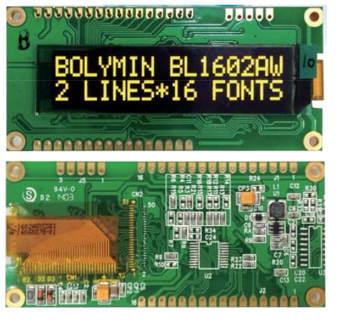 Displays OLED SMT con formato COG