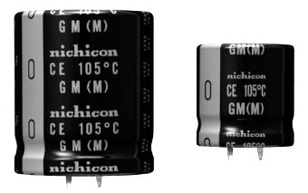 Condensadores electrolíticos snap-in de 600 V