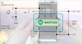 Regulador boost nanoPower compacto