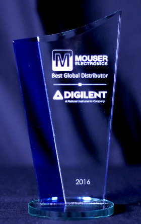Premio al mejor distribuidor global de Digilent