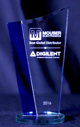 Premio al mejor distribuidor global de Digilent