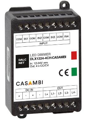 Regulador de intensidad LED de cuatro canales
