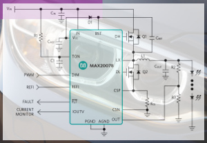Controlador de LEDs de alto brillo