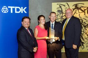 Mouser Electronics gana el premio europeo de distribución 2016 por TDK Europe