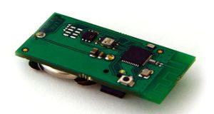 Etiqueta con sensores de humedad y temperatura