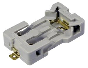 Porta pilas planas CR2032 con formato PTE