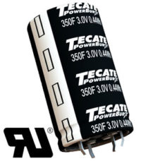 Ultra condensadores de tamaño mediano