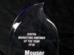 Mouser nombrado socio de marketing digital global del 2017
