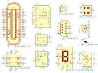 Biblioteca de huellas de componentes