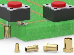 Receptáculos de ajuste a presión para componentes