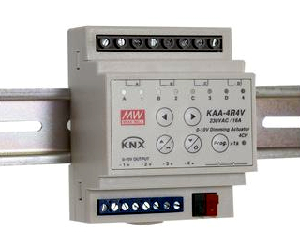 Actuador y regulador KNX en carril DIN