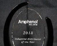 Mouser Electronics nombrado distribuidor industrial del 2018 por Amphenol