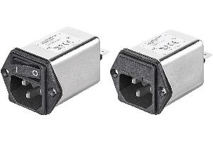 Filtros de RFI con módulo de entrada de alimentación