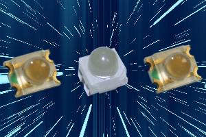 LEDs con ángulos de haz diferentes para sistemas de alta intensidad