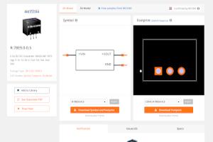 Modelos digitales de RECOM en SnapEDA