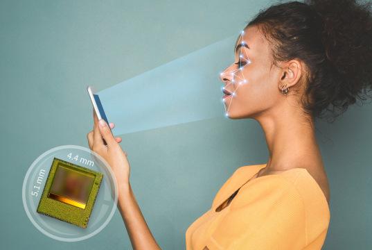 Sensor de imagen 3D para reconocimiento facial