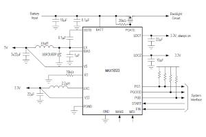 Circuito de gestión de potencia para pantallas de automóviles