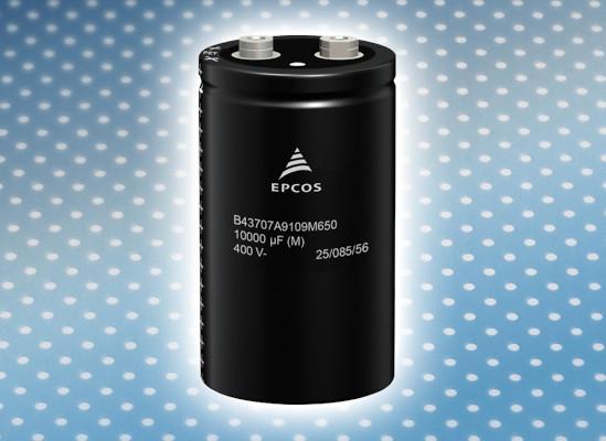 Condensadores electrolíticos de aluminio con elevada corriente de rizado