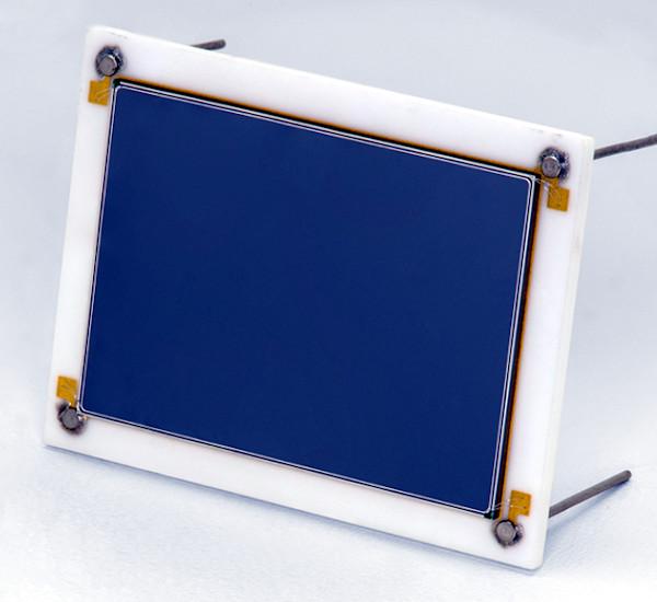 Fotodiodo rectangular para detección de electrones