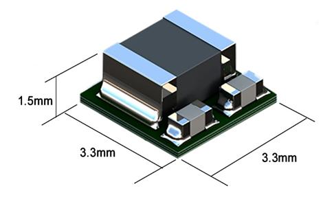 Figura 4: Los convertidores PoL µPOL innovadores de TDK con una huella de sólo 11 mm² y una altura de 1,5 mm