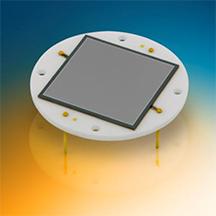 Fotodiodo cuadrado para detección de radiación