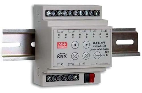 actuador universal KNX con función de persianas