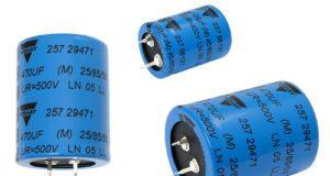 Condensadores de aluminio para diseños de elevada densidad de potencia
