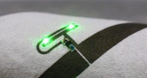 Tinta metálica para impresión de circuitos en ropa